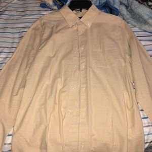 Five Four Tan Button Up Long-sleeve